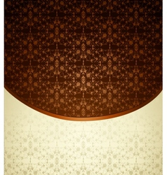 Vintage brown ornament vector