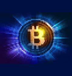 virtual bitcoin digital currency consist of binary vector image vector image