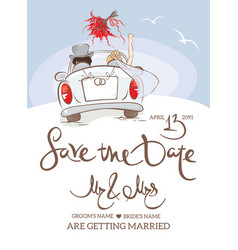 wedding invitation postcard vector image