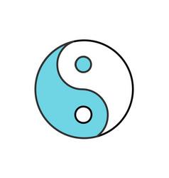 Yin yang color icon vector