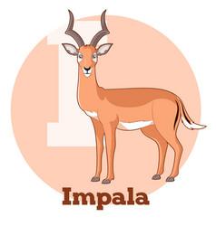 abc cartoon impala vector image