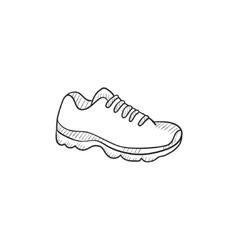 Sneaker sketch icon vector image