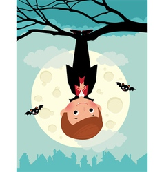 Vampire on Halloween night vector image vector image