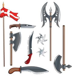 A military weapon set for a computer game vector image vector image
