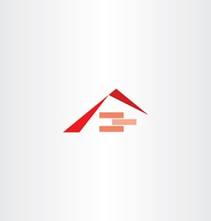 house construction roof brick logo vector image