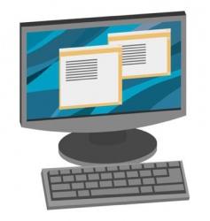computer vector image vector image