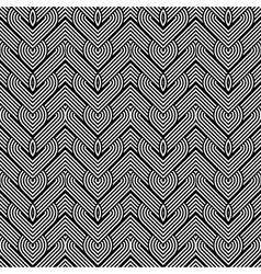 Design seamless monochrome interlaced pattern vector image