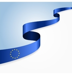 European Union flag background vector image vector image