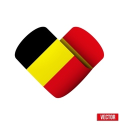Flag icon in the form of heart I love Belgium vector image vector image