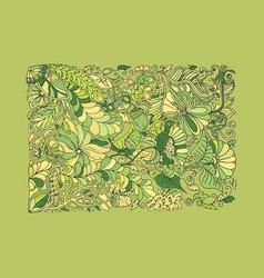 Green spring doodle vector