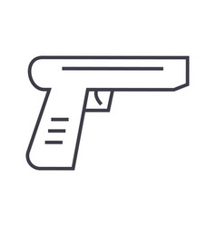 gun line icon sign on vector image