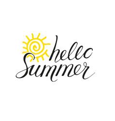 hello summer phrase vector image vector image