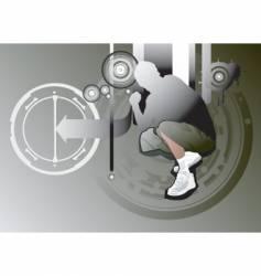 urban street guy vector image vector image
