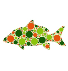 dotted fish vector image