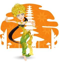 indian dancer vector image vector image
