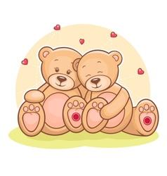 Teddy Bear love vector image vector image