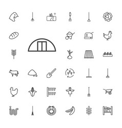 33 agriculture icons vector