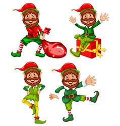 A set of christmas elf vector
