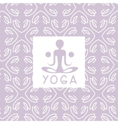Abstract Figure Violet Yoga Studio Design Card vector image