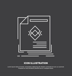 ad advertisement leaflet magazine page icon line vector image