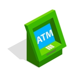 ATM icon isometric 3d style vector image