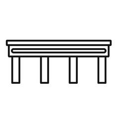 Autobahn bridge icon outline style vector