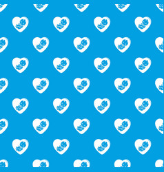 Baby pattern seamless blue vector