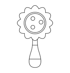 Baby rattle icon outline style vector