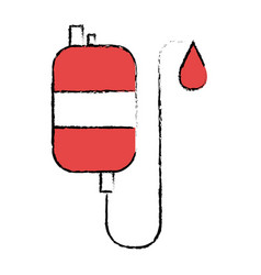 bag blood donation icon vector image