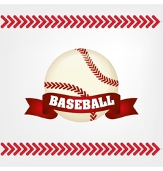 Baseball bal ribbon vector
