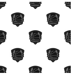 Basketball emblembasketball single icon in black vector