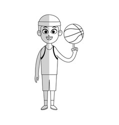 Basketball player cartoon icon image vector