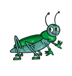 Beatle friendly cute insect cartoon vector