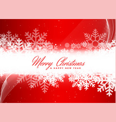 beautiful snowflakes red background design vector image