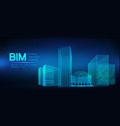 Bim - building information modeling vector