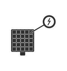 Black icon on white background solar panel vector