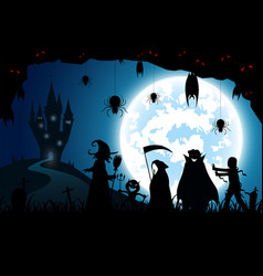Blue background conceptfestival halloweenfull vector
