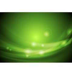 Bright green waves design vector image