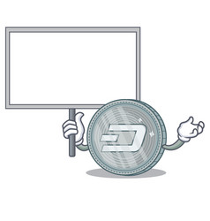 Bring board dash coin character cartoon vector