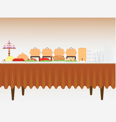 Buffet table vector