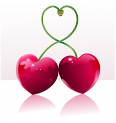 cherry love place card vector image
