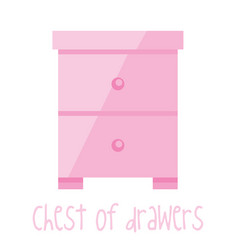 Chest drawers vector