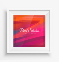 Color paint strokes vector