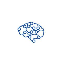 computer brain line icon concept computer brain vector image