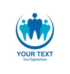 Dental clinic family logo design template vector