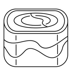 Ebi sushi icon outline style vector