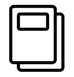 Education icon black and white line vector