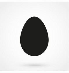 egg icon vecor black on white background vector image