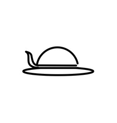 female hat accessory tourism travel thick line vector image