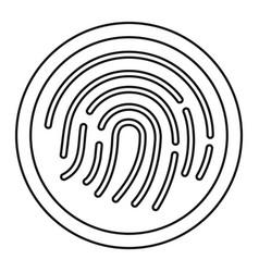 fingerprint icon outline style vector image